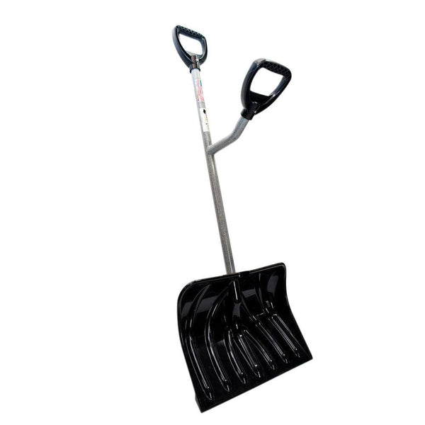 "ErgieShovel SNW100 Heavy-Duty Rectangle Snow Shovel with 18"" Blade"
