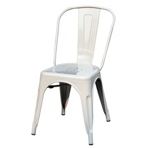 Sunjoy S-DNC1304PST Stackable Metal Cafe Chair, Gray