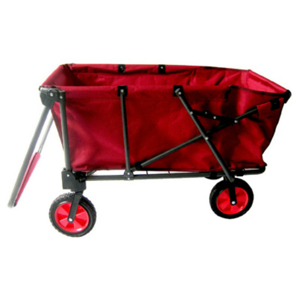 Zenithen OB002S1 Folding Work Wagon with Detachable Wheels, Red, Large