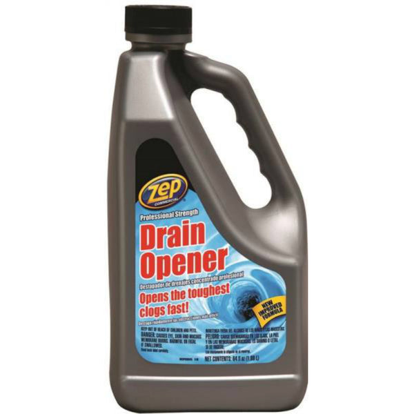 Zep Commercial U39504 Professional Strength Drain Opener, 64 Oz