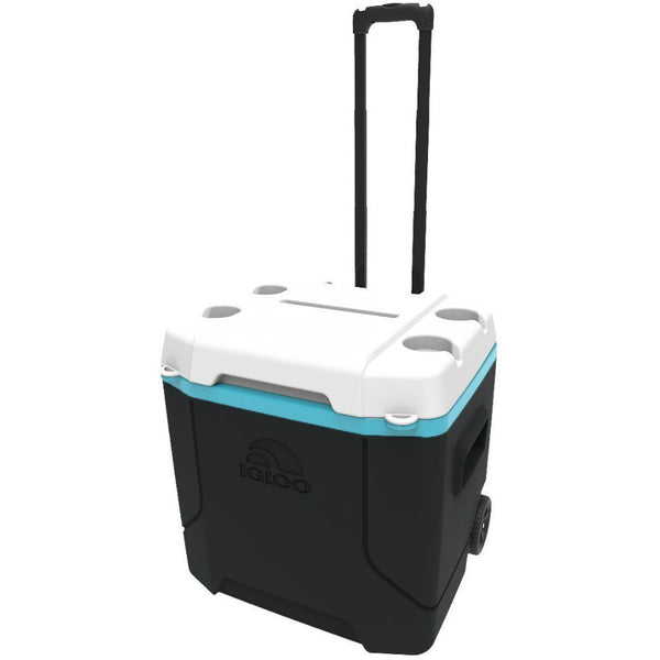 Igloo 34195 Roller Cooler with Wheel, Black / White, 30 Qt