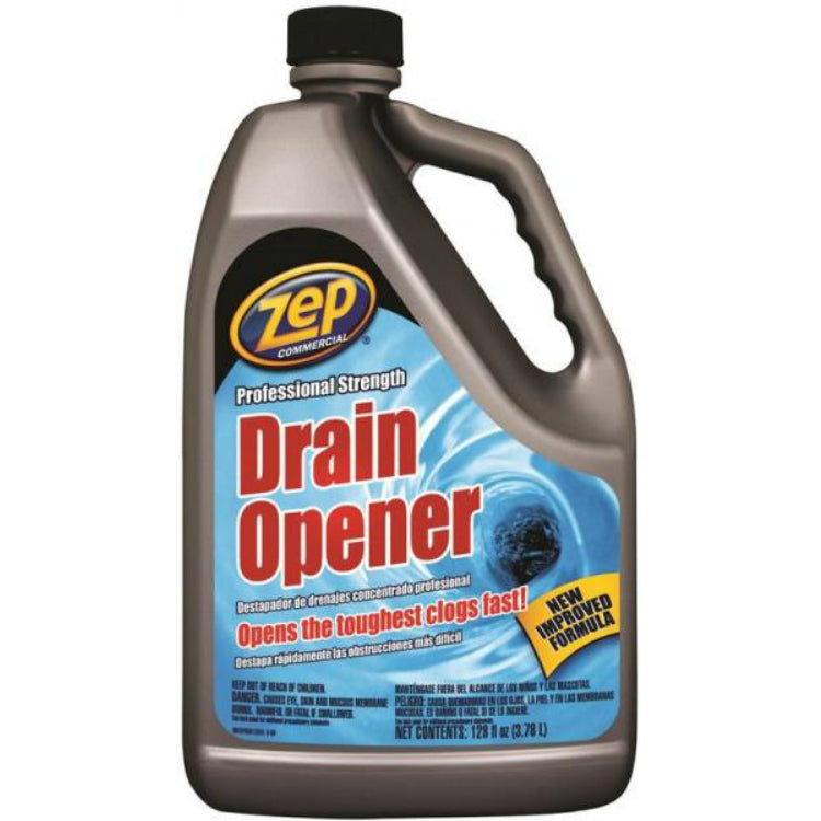 Zep Commercial U39524 Professional Strength Drain Opener, 128 Oz