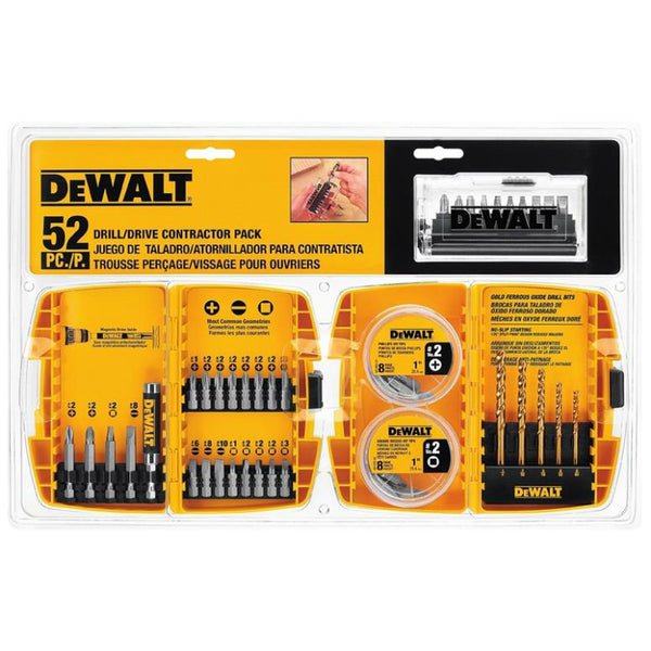 DeWalt DW2178-5 Drill / Driver Contractor Set, 52 Pieces
