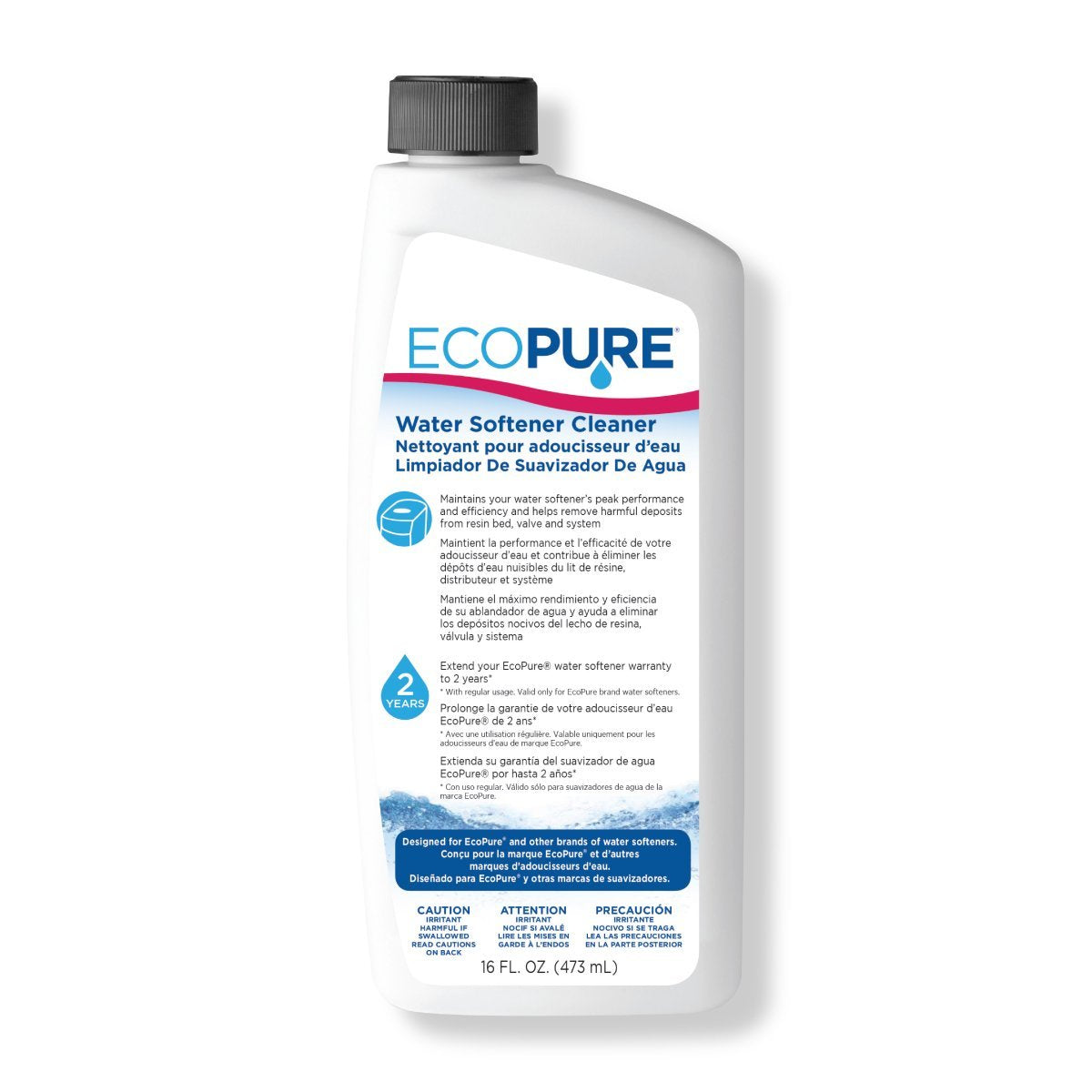 EcoPure 7346596 Water Softener Cleaner, 16 Oz