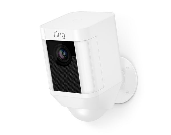 Ring 8SB1S7-WEN0 Battery-Powered Spotlight Camera, White