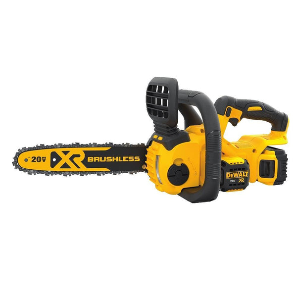 "DeWalt DCCS620P1 Brushless XR Compact Cordless Chainsaw Kit (5Ah), 12"", 20V MAX"