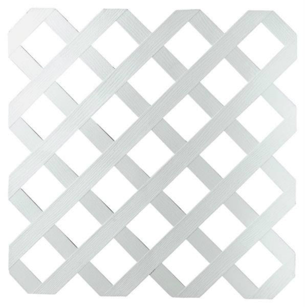 "Dimensions 148261 Classic Diamond Lattice w/ 2-3/4"" Grid Opening, Plastic, White"