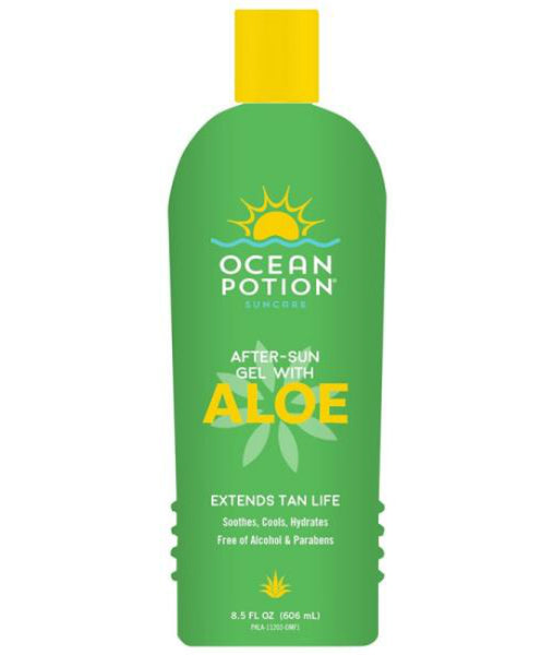 Ocean Potion 11203-200-DM12 After Sun Gel with Aloe, Green, 8.5 Oz