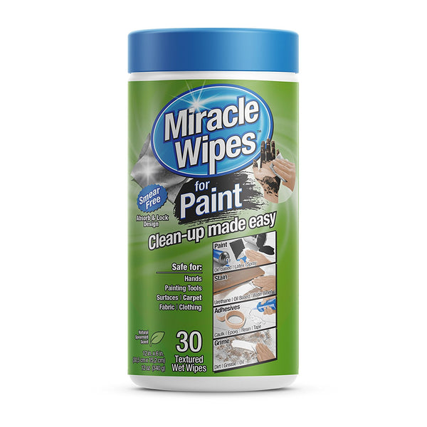 MiracleWipes 3157 Cleaning Wipes for Paint, 30 Count