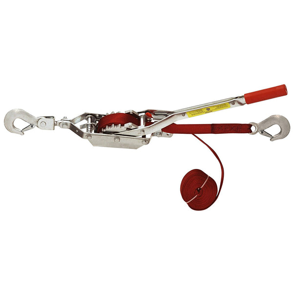 American Power Pull 18700 Double Ratchet Drive Strap Puller, 6' Pull, 2-Ton Cap