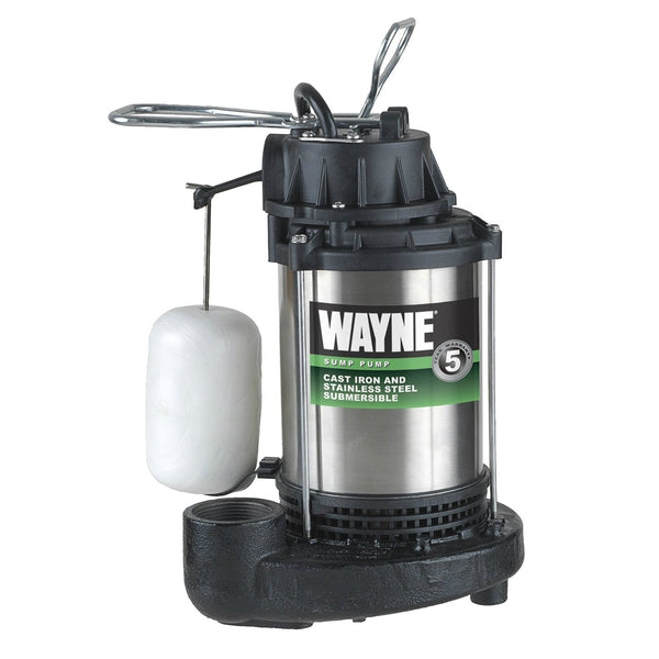Wayne CDU1000 Cast Iron & Stainless Steel Submersible Sump Pump, 1 HP