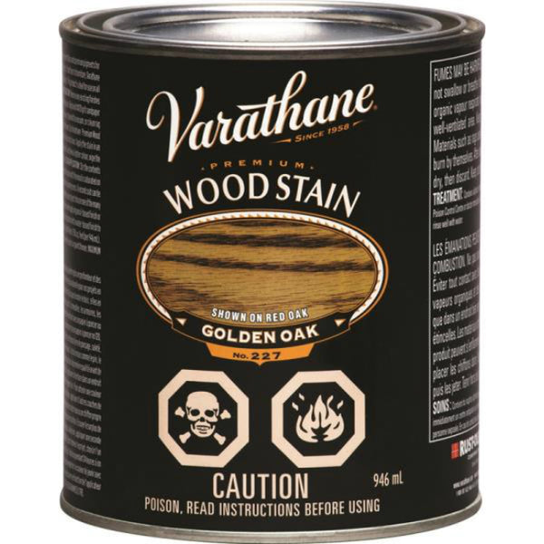 Varathane Y215314 Premium Oil Based Wood Stain, Golden Oak, 946 mL
