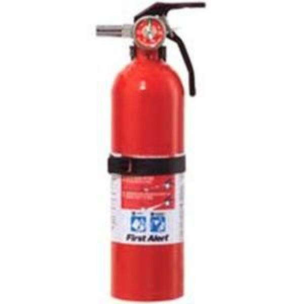 First Alert FE5GOA Rechargeable Recreation Fire Extinguisher, 5-B:C, Red, 2.5 Lb
