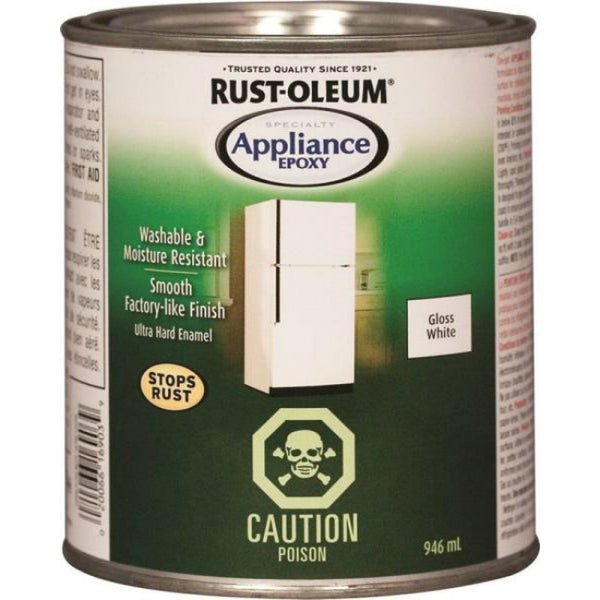 Rust-Oleum 242669 Specialty Appliance Epoxy, Gloss White, 946 mL