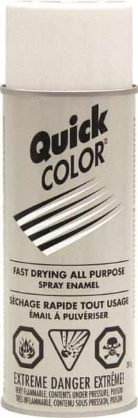 Quick Color NJ2850830 Fast Dry All Purpose Spray Enamel Paint, Gloss White,10 Oz