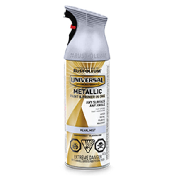 Rust-Oleum 264652 Universal Metallic Spray Paint, Pearl Mist, 312 g Aero