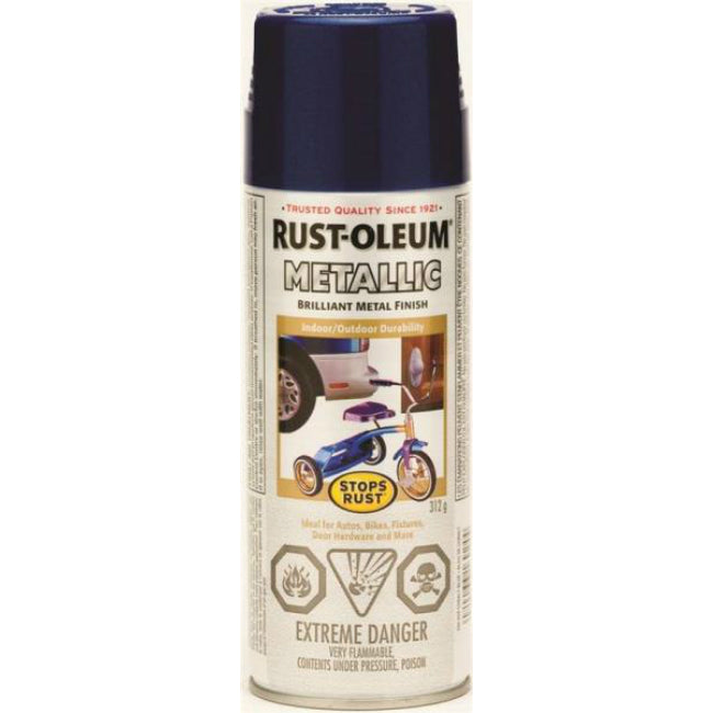 Rust-Oleum 242628 Stops Rust Outdoor Metallic Finish, Cobalt Blue, 312 g Aero