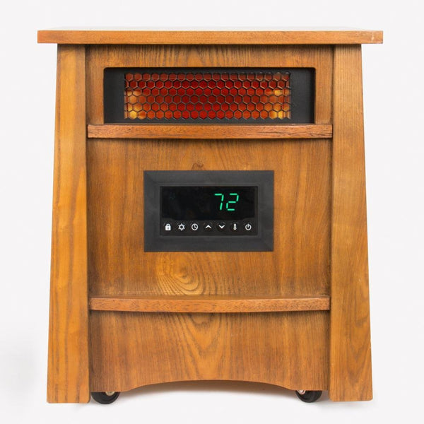 LifeSmart HT1121 Furniture Style 8-Element Infrared Heater with 3-Heat Setting