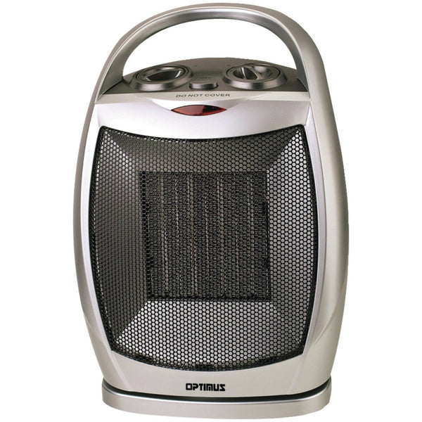 Optimus H-7247 Portable Oscillating Ceramic Heater w/ Thermostat, 750/1500 Watts