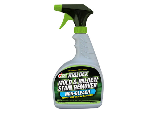 Moldex 5312 Non-Bleach Mold & Mildew Stain Remover Spray, 32 Oz