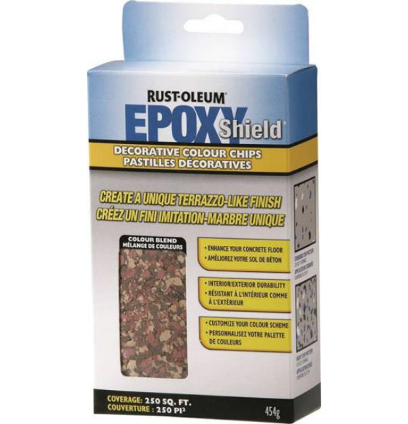 Rust-Oleum N238473 EPOXYSHIELD Decorative Colour Chips, Brick Red, 474 G