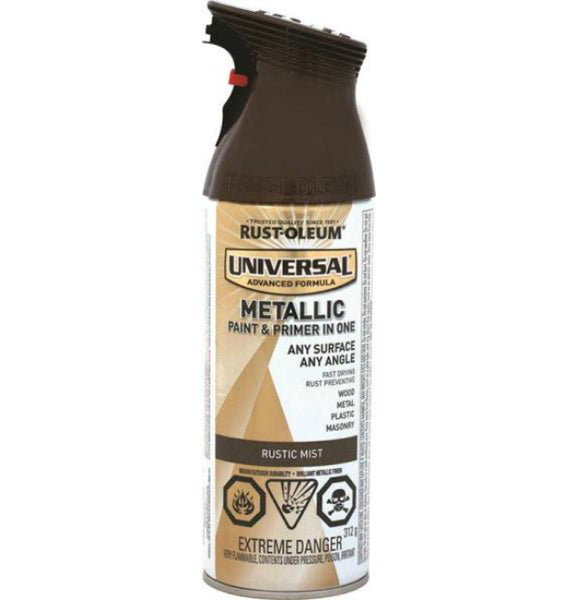 Rust-Oleum 264658 Universal Metallic Spray Paint, Rustic Mist, 312 g Aero