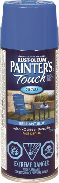Painter's Touch N1926830 Multi-Purpose Brush-On Paint, Brilliant Blue, 340G Aero