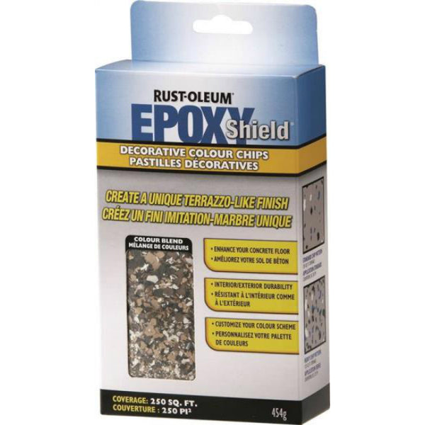 Rust-Oleum N238470 EPOXYSHIELD Decorative Colour Chips, Tan Blend, 474 G