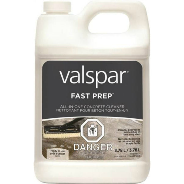 Valspar 82096C Fast Prep All-in-One Concrete Cleaner, 3.78 Litre