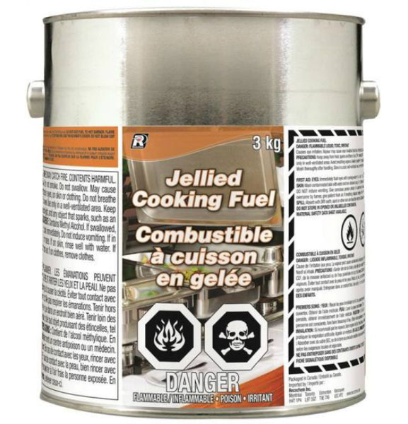 Recochem 14-488 Methanol Based Jellied Cooking Fuel, 3 Kg
