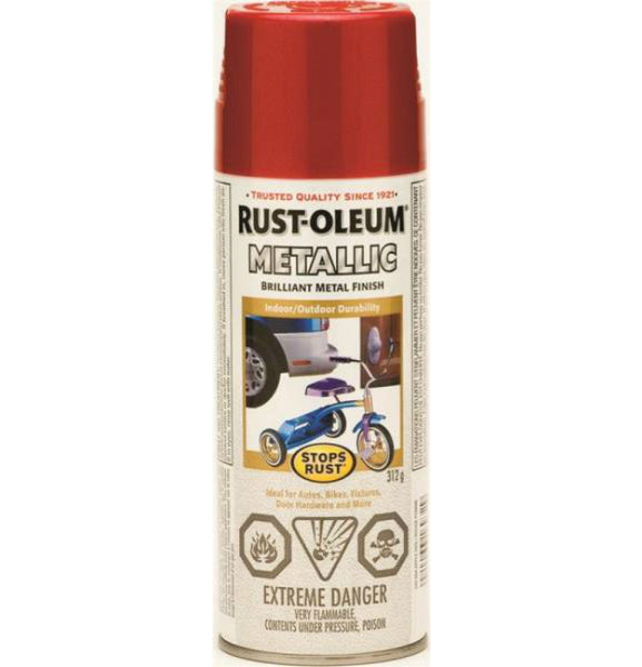 Rust-Oleum 242694 Stops Rust MultiColour Textured Spray, Apple Red, 340g Aerosol
