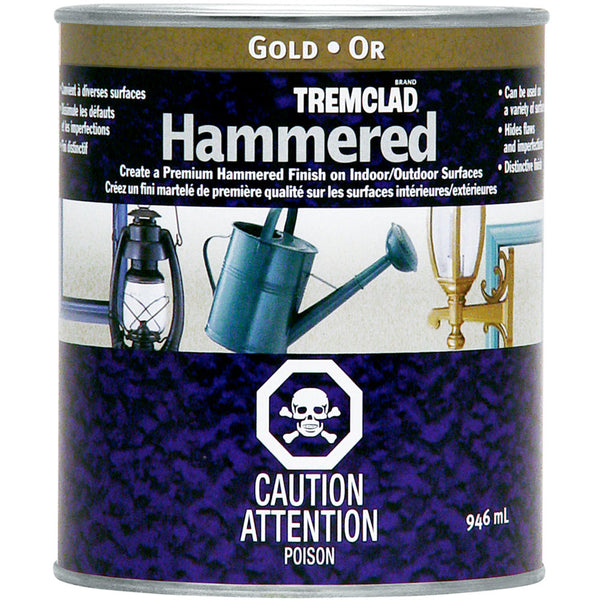 Tremclad 254831 Gloss Metal Hammered Finish, Gold, 946 mL