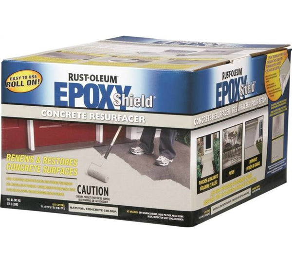 Rust-Oleum N246350 EPOXYSHIELD Concrete Resurfacer Kit, Natural Grey
