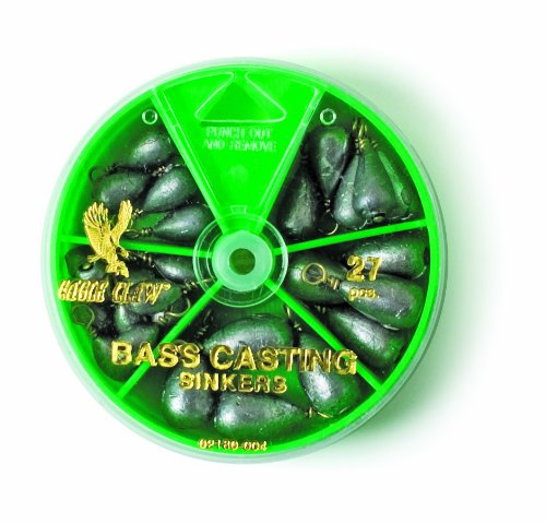 Eagle Claw 0848-2211 Bass Casting Sinker, Assorted, 27 Piece