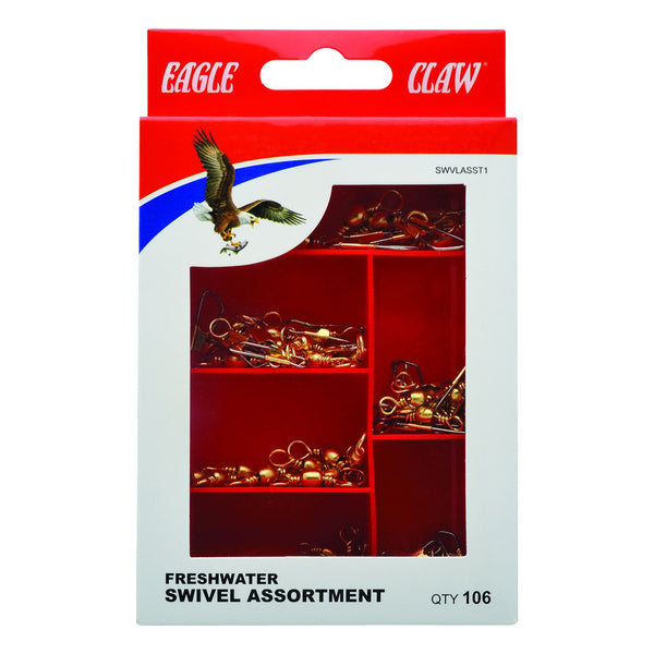 Eagle Claw 0848-6244 Gold Finish Swivel, Assortment