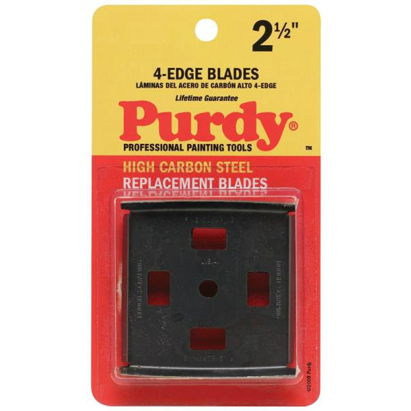 Purdy 144900535 Heavy-duty 4-Edge Carbide Scraper, High Carbon Steel, 2-1/2""