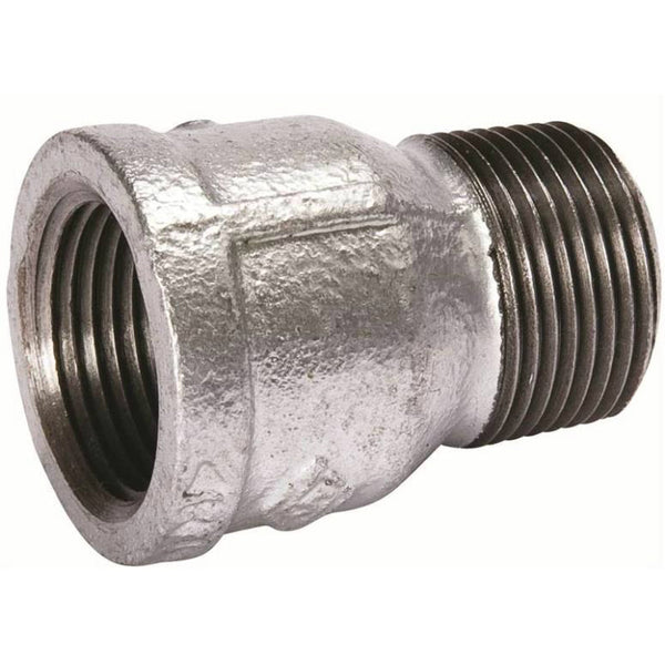 Southland 511-613BG Galvanized Pipe Extension Piece, Malleable Iron, 1/2""
