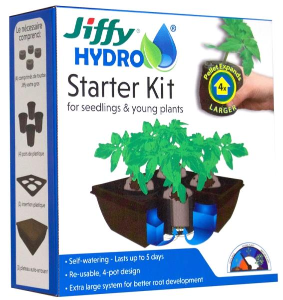 Jiffy JH4-8 Hydro Starter Kit for Seedling & Young Plants, 18""