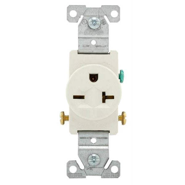 Eaton 1876LA Commercial Grade Straight Blade Receptacle, Light Almond, Single