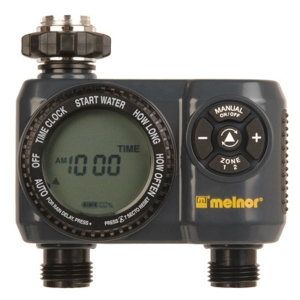 Melnor 63100 LCD Screen Aqua Water Timer with 2-Zone