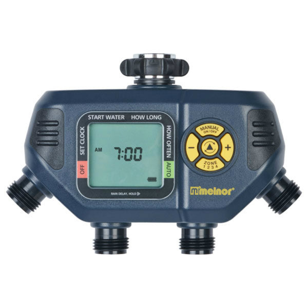Melnor 63280 Large LCD Screen Aqua Water Timer with 4 Zone
