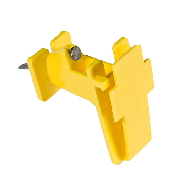 Zareba IWTNY-Z Polytape Wood Post Insulator, Yellow