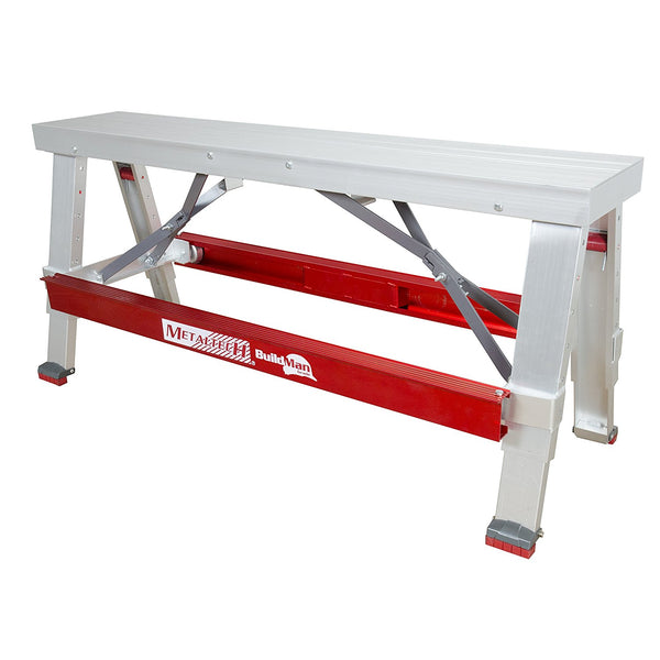 "Metaltech I-BMDWB18 BuilMan Drywall Bench w/Anti-Slip Footing, 500 Lb, 18"" - 30"""