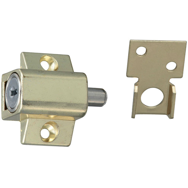 "Stanley 610500 Keyed Alike Window Lock Guard, Bright Brass, 1-5/8"" x 1-3/8"""