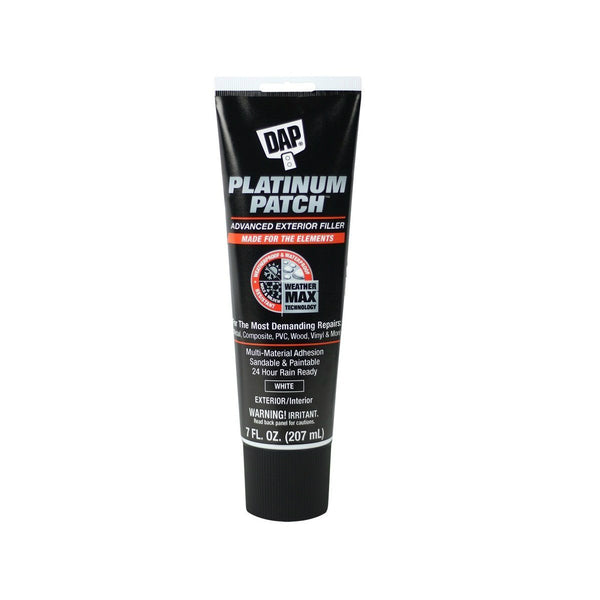 DAP 18786 Platinum Patch Advanced Exterior Filler, 7 Oz