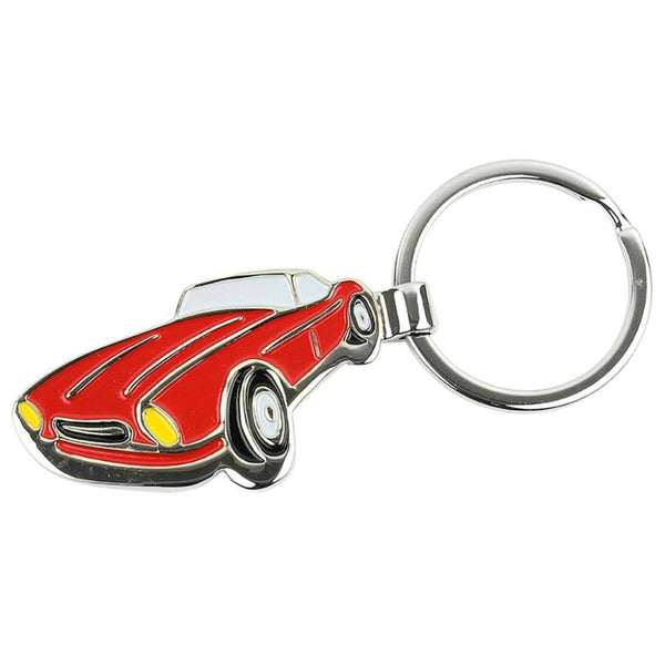 Hy-Ko KH441 Sports Car Metal Key Ring, Red, 4-3/4""