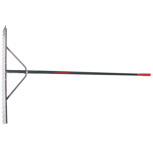 Razor-Back 63133 Aluminum Asphalt Lute Rake with Aluminum Handle & End Grip, 36""