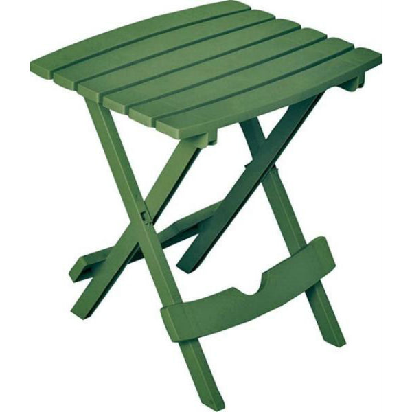 Adams 8500-43-3731 Quik-Fold Polypropylene Side Table, Emerald, Hold Upto 25 Lb