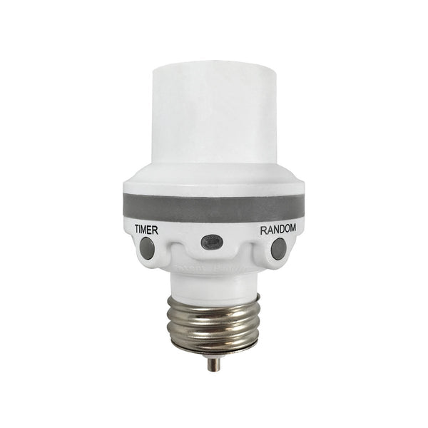 Westek SLC6CBC-4 Programmable Screw-in Light Control Socket, 100W, White