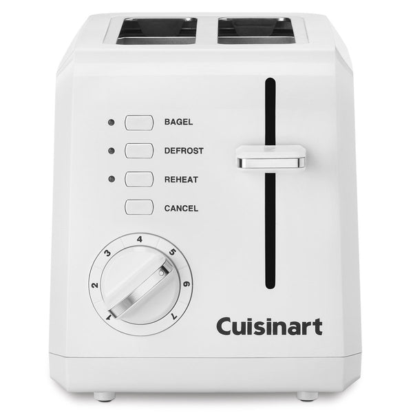 Cuisinart CPT-122 Compact Plastic Toaster, White, 2-Slice
